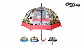 Автоматичен дамски чадър за дъжд стил Paris, от Svito Shop