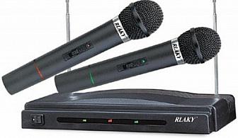 Безжичен микрофон /2 бр./ само за 29.50 лв. вместо 48 лв. с 39 % отстъпка от www.летящи-фенери.com!