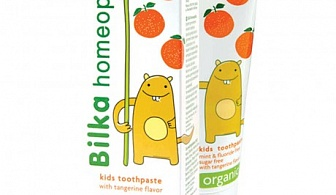Bilka Homeophathy Kids Toothpaste with Tangerine Flavor