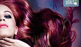 Боядисване с боя на клиента, подстригване, масажно измиване, подхранваща маска и оформяне със сешоар в салон за красота Феникс!