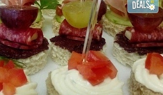 100 броя хапки в сет за Вашия модерен рожден ден в офиса или у дома + безплатна доставка за София от кулинарна работилница Деличи!