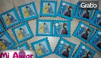 10 броя ръчно изработени меденки със снимка на клиента или украса от захарно тесто