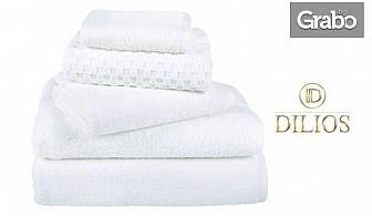 Бяла хавлиена кърпа от 100% памук, в размер по избор
