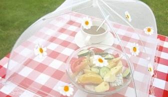 Чадърче с цветенца - покривало за храна