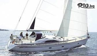 """1 час панорамна разходка с луксозна яхта """"Света Анна"""" в красивия Варненски залив или във Варненското езеро + чаша шампанско или кафе, от Яхтен туризъм Евъргрийн"""