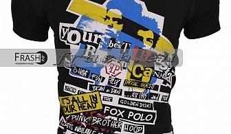 Черна Мъжка Тениска Ft6206