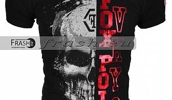 Черна Мъжка Тениска Череп с Камъни Ft6184