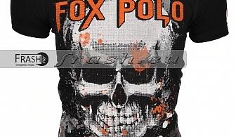Черна Мъжка Тениска Череп с Камъни Ft6176