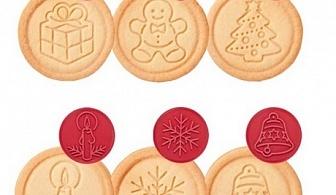 Червен комплект от 6 бр. печати за сладки Tescoma от серия Delicia