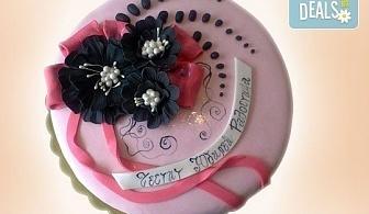 Цветя! Празнична торта с пъстри цветя, дизайн на Сладкарница Джорджо Джани