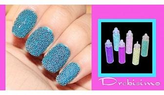 6 цвята декоративен хайвер за нокти