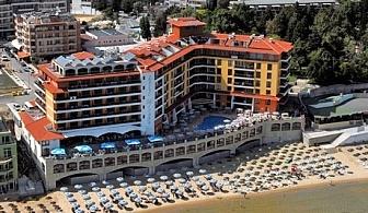 Цяло лято на първа линия в Несебър. Нощувка, закуска и вечеря + басейн в хотел Мираж***