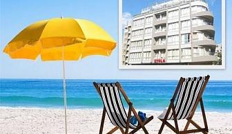 Цяло лято на 100 м. от плажа в Несебър. Нощувка, закуска, обяд и вечеря на цени от 42 лв. в Хотел Стела