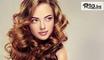 Дълбоко възстановяваща кератинова терапия за коса със steam pod преса + подстригване и оформяне със сешоар, от Ti AMO Beauty Studio