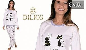"""Дамска пижама от 100% памук - модел """"Котки""""или """"Колело"""""""