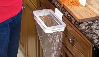 Държач за найлонова торба за боклук с капак