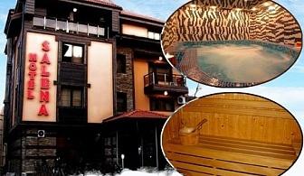 8 Декември в Банско. 2 или 3 нощувки със закуски на човек + празнична вечеря и джакузи в хотел Бутик Салена ***