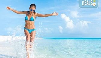 За 1 ден на плаж през август или септември в слънчевата Аспровалта в Гърция - транспорт с нощен преход и екскурзовод от Глобул Турс!