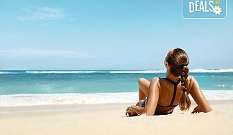 За 1 ден на плаж в слънчевата Аспровалта в Гърция с транспорт и екскурзовод от Глобул Турс!