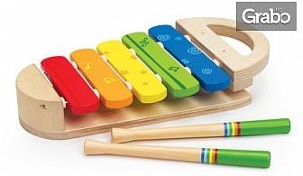 Детска дървена играчка Hape - пъзел или ксилофон