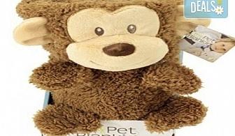 Детска изненада! My Pet Blankie 3в1- одеяло, възглавница, плюшена играчка - кафява маймуна от Toys.bg