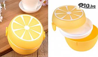 Детска кутия за храна с форма на портокал с отделения и прибори, от Svito Shop