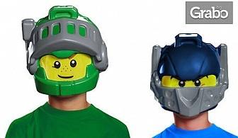 Детска маска Lego Nexo Knights - на Клей или Аарон