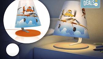 Детска нощна лампа на Philips с безопасен дизайн с героите от анимацията Planes