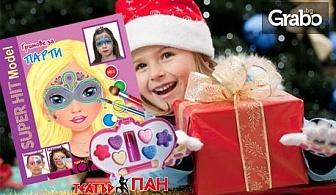 """Детски коледен комплект """"Дядо Коледа пристига""""с книжки и компактдискове с песнички и приказки"""