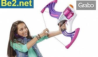 Детски лък Nerf Rebelle с автоматично зареждане, плюс 10 стрели
