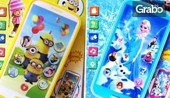 """Детски смартфон """"Миньоните""""с приказки и песни на български език"""