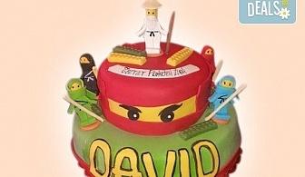 """Детски торти """"MAX цветове"""" с 2, 3 или 4 фигурки, фотодекорация и апликация по дизайн на Сладкарница Джорджо Джани!"""