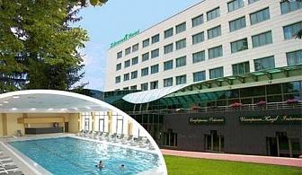 5 дни пълен пансион за ДВАМА във Велинград с ГОРЕЩА минерална вода и лечебни процедури + преглед и консултация от лекар! Заповядайте в балнео хотел Здравец Уелнес и СПА****