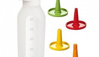 500 мл дозираща бутилка с 4 накрайника Tescoma от серия Presto