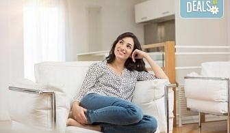 Двустранно измиване на прозорци на дом или офис до 70 или до 100 кв.м. + пране на мека мебел до 5 седящи места от Клийн Груп БГ!