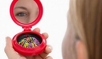 Джобно огледало + четка за коса Colors