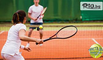 Един час наем на тенис корт за двама с ползване на ракети и тенис топки, от Тенис клуб Приста 2011