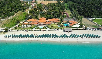 За една нощувка в Possidi Holydays Resort - Халкидики, Касандра със закуска и вечеря, чадър и шезлонг на плажа, басейн и безплатен паркинг /20 Септември до 30 септември