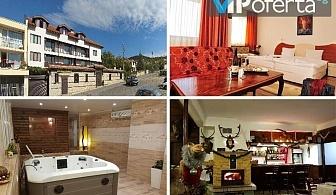 Еднодневен пакет със закуска или закуска и вечеря + ползване на сауна и джакузи в хотел Ловна среща, вилна зона Кошарица