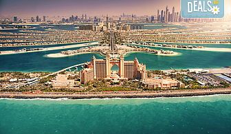 """Екзотика през март в Дубай! 4 нощувки със закуски и вечери в хотел 3*, самолетен билет и летищни такси, сафари в пустинята и круиз """"Дубай Марина"""""""