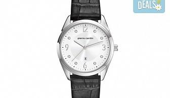 Елегантен часовник на Pierre Cardin с кристални индекси + безплатна доставка!