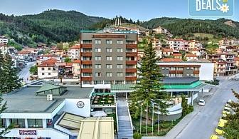 Есенна почивка в планински Балнео и Спа курорт СПА Хотел Девин 4*! 2 нощувки със закуски и 1 вечеря, ползване на басейн с минерална вода /36-37С/, парна баня, сауна, Wi-Fi интернет