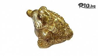 Фън шуй сувенир на парите и късмета - статуетка трикрака жаба, от Svito Shop