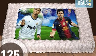 За феновете на спорта! Торта със снимка за почитателите на футбола или други спортове от Сладкарница Джорджо Джани