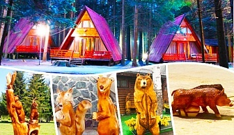 Фестивал на дърворезбата в к.к. Боровец! 2 нощувки в напълно оборудвана къща за до 4 човека във Вилни селища Ягода и Малина