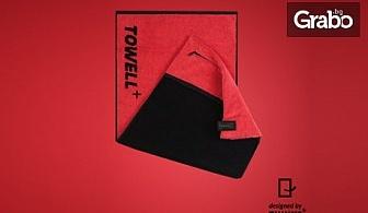 Фитнес кърпа Towell+ в сив или червен цвят
