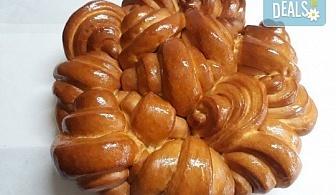 Френска погача с масло за семейни празници, 1.500 или 2.000 кг., + паричка от Пекарна Слънце!