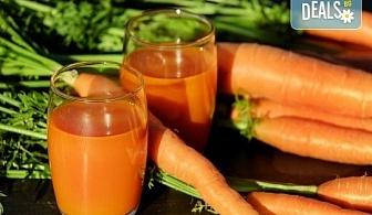 Fresh! 1 или 2 литра прясно приготвен фреш: лимонада, портокал, ябълка, морков или микс от Fresh & GO!