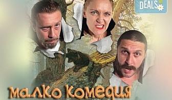 """Гледайте Асен Блатечки, Койна Русева, Калин Врачански в """"Малко комедия"""", на 09.04. от 19ч, Театър """"Сълза и Смях"""", 1 билет"""