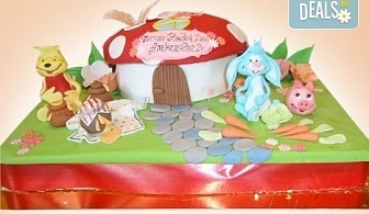 Голяма детска 3D торта с фигурална ръчно изработена декорация от Сладкарница Джорджо Джани